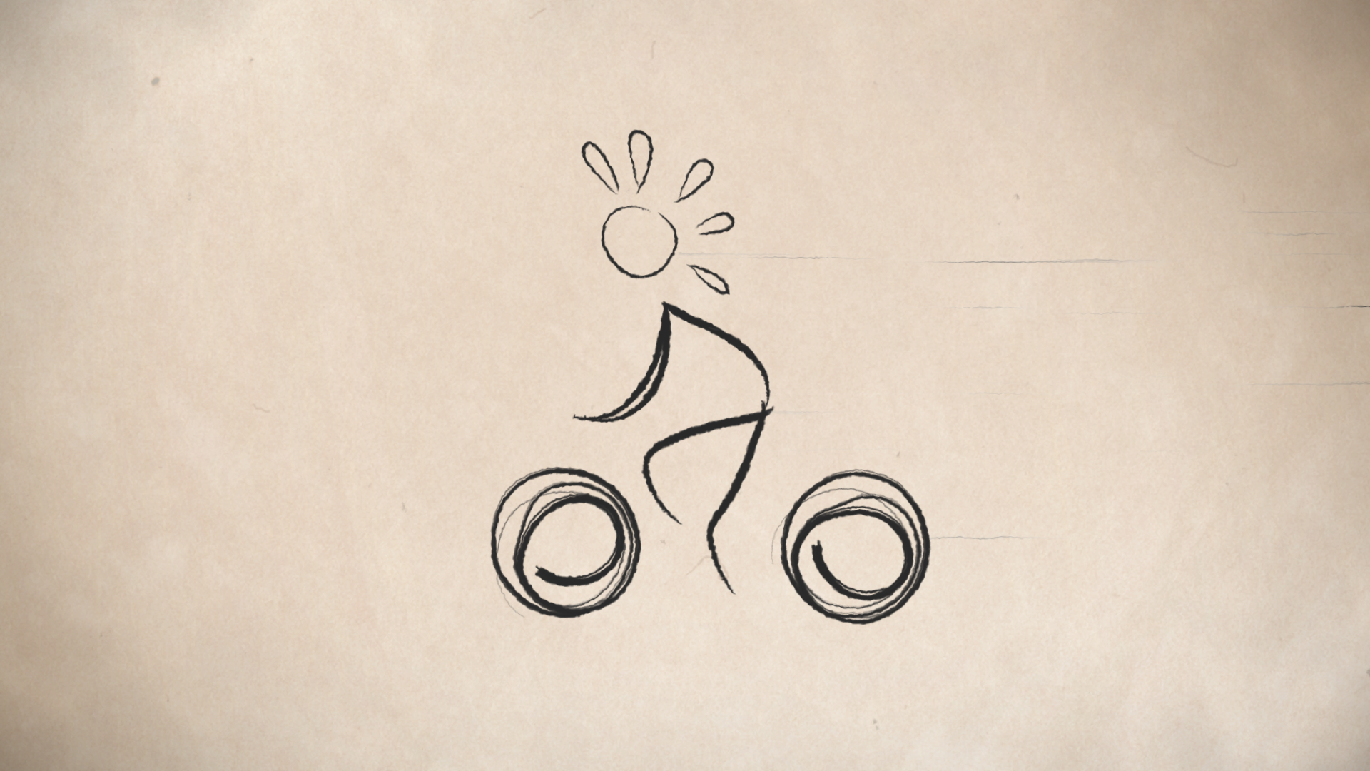 Animated cyclist scene