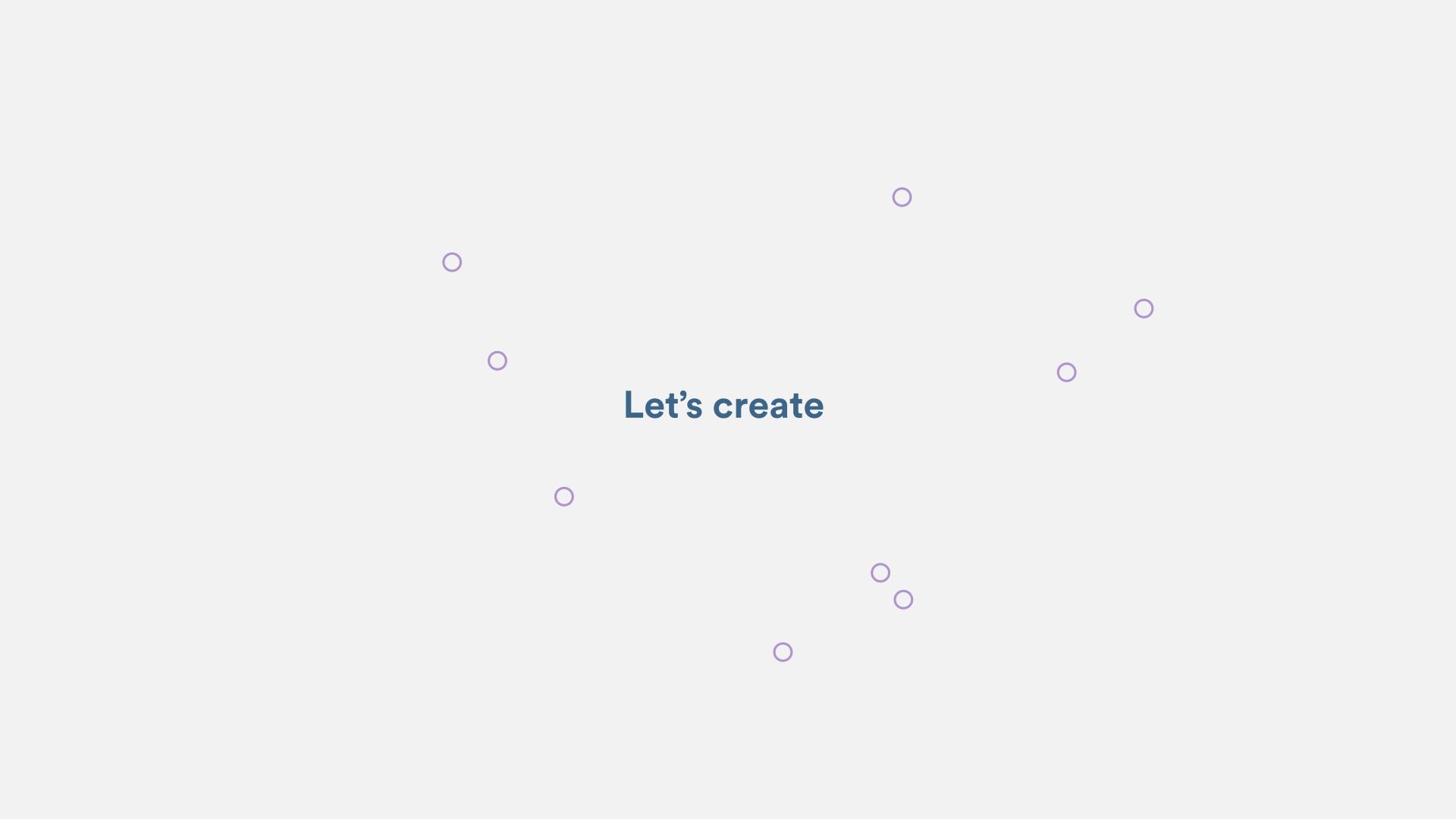 simple circle shapes animated in motion design video