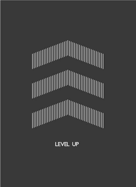 level up poster design by thomas