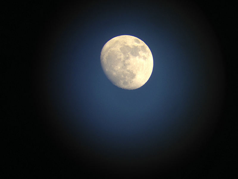 The Moon taken from an iPhone by Thomas Davis
