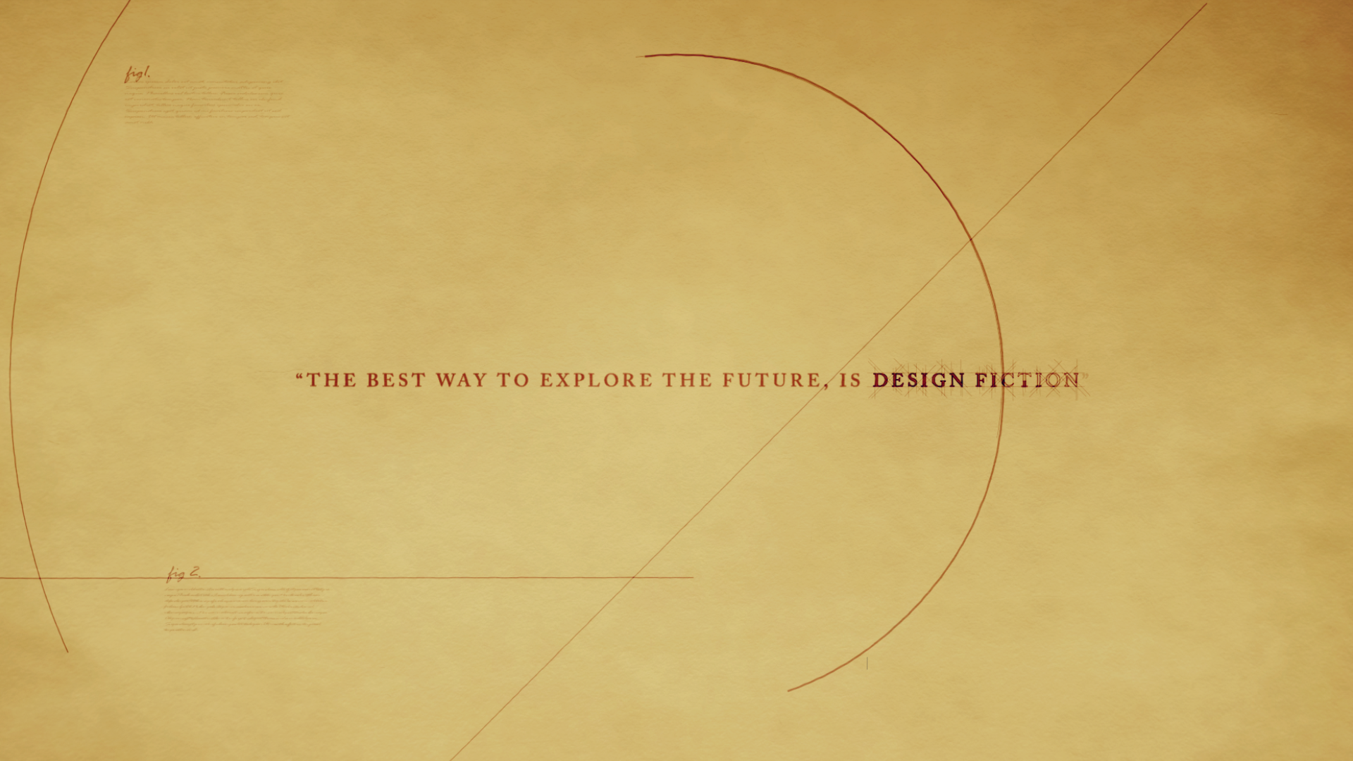 design fiction intro motion design