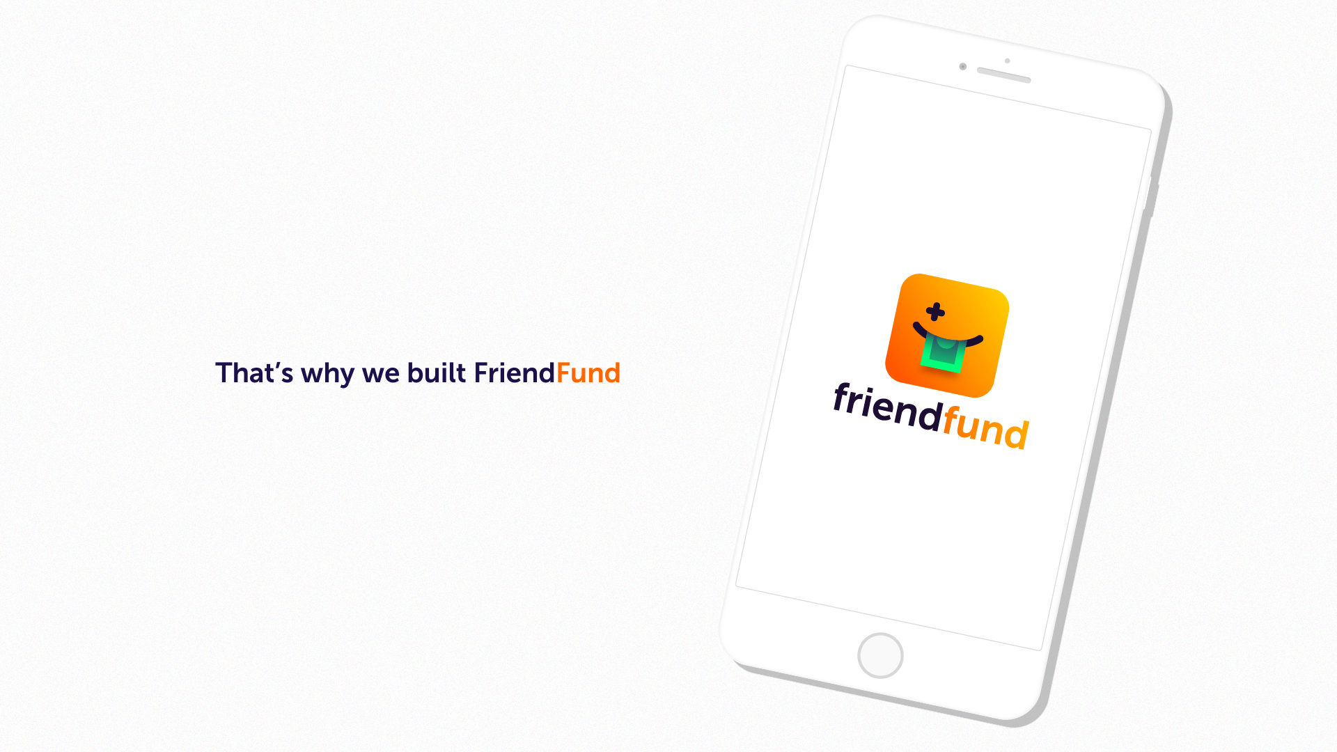 FriendFund app launch motion design