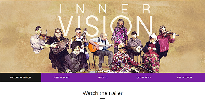 website design for inner vision film