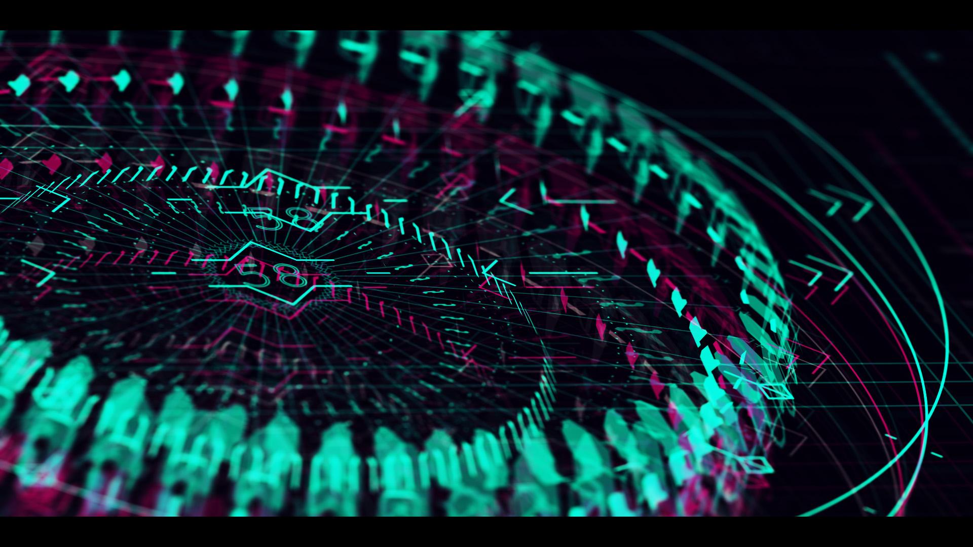 Sci-fi HUD element green