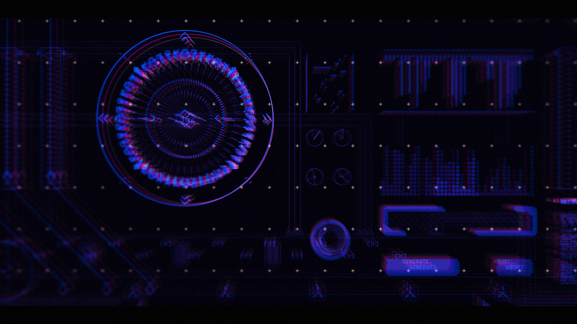 sci-fi interface created in After Effects