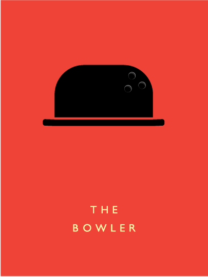 the bowler hat poster designed by Thomas Davis