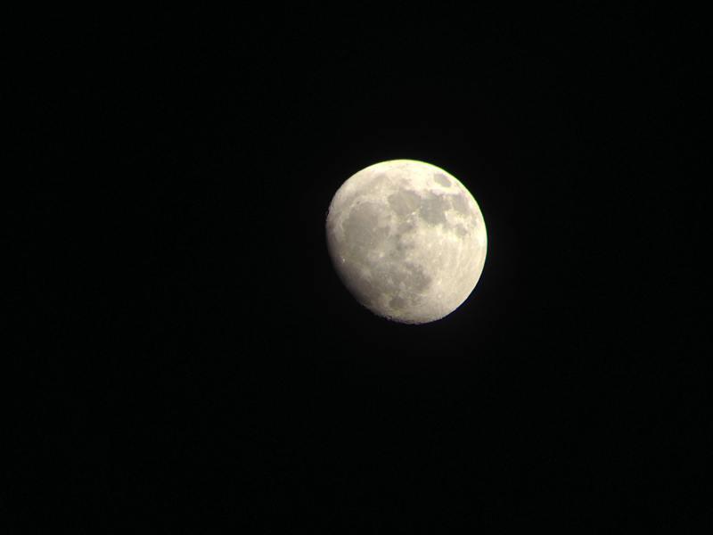 The moon at night taken from an iPhone by Thomas Davis